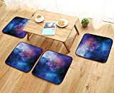 Leighhome Modern Chair Cushions Stars Universe Themed Colorful Nebula in Cosmos Interstellar Dark Art Picture Navy Purple Convenient Safety and Hygiene W23.5 x L23.5/4PCS Set