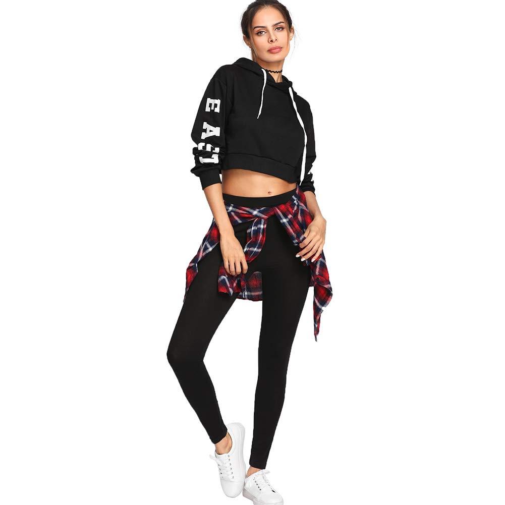 SOLY HUX Damen Leggins Streifen Seitenstreift mit Knopf Laufhose Sport Leggings Capris Yoga Pants Training Hose