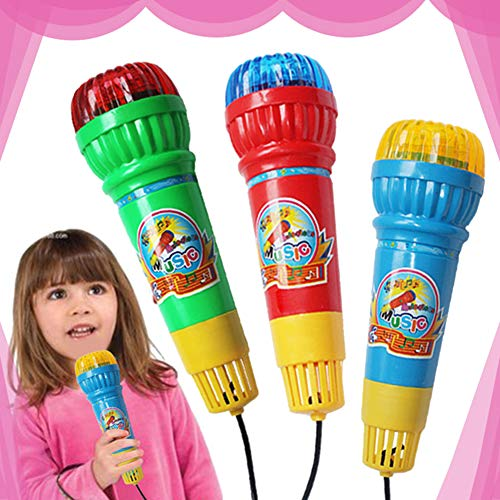 sJIPIIIk552 Children's Voice Converter Microphone Toy Karaoke Singing Machine Toy Home KTV Party Birthday Children's Gift Random Color