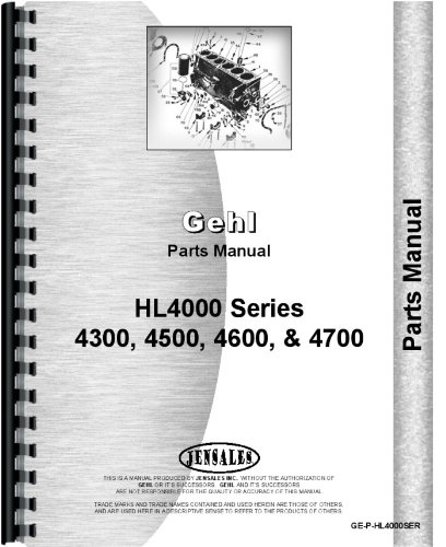 Gehl HL4500 Skid Steer Loader Parts Manual by Gehl