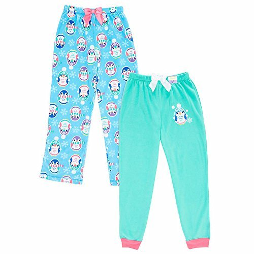St Eve Girl's Microfleece Sleep Pant by Komar Kids, 2-Pack, Penguin, Size 14