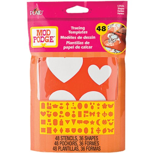 - Mod Podge Tracing Templates, 12926 Basic Shapes (48-Stencils with 36 Shapes)