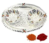 Indian Traditional Decorative Pooja thali Beautiful Lakshmi Festival Ethnic Gift for her/Kankavati / Diwali/Indian Handicraft/Home / Temple/Office / Wedding Gift/Bulk Gift. GS11