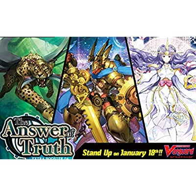 Bushiroad VGE-V-EB04-EN Cardfight Vanguard V-The Answer of Truth Extra Booster Display Box of 12 Packets: Toys & Games