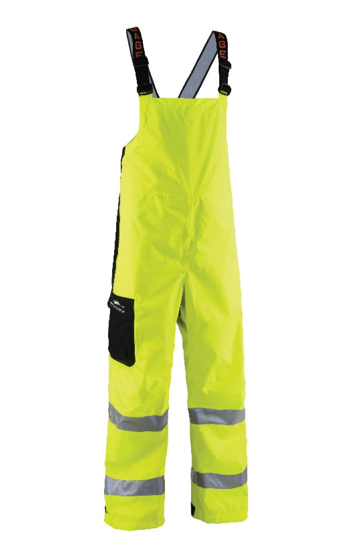 Grunden's Men's Gage Weather Watch Ansi Bib, Hi Vis Yellow, 4X-Large