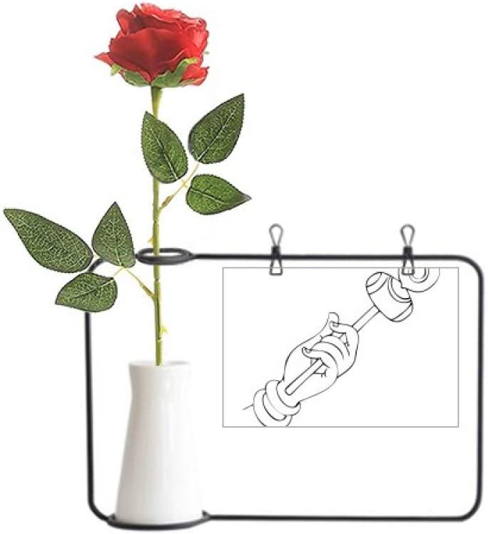Amazon Com Yaox Culture Hand Line Drawing Simple Pattern Artificial Rose Flower Hanging Vases Decoration Bottle Home Kitchen