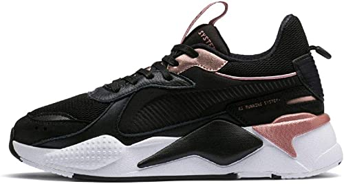 puma black and rose gold trainers