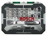 Bosch 2607017322 Rainbow Evo Set Screwdriver with small ratchet, 26 Pieces