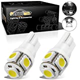 2012 Acura TSX License Plate Light Bulbs - Partsam 2PCS White T10 168 194 2825 5-5050-SMD License Plate LED Lights Lamp Bulbs