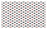 Lunarable Casino Doormat, Retro Style Pattern Classical Colors with Playing Card Suits Gamble Gaming Luck, Decorative Polyester Floor Mat with Non-Skid Backing, 30 W X 18 L Inches, Black White Red