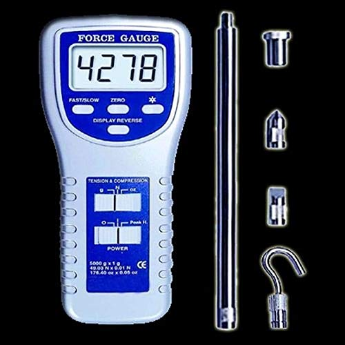 Digital Display Dynamometer Force Gauge Push and Pull Tester Meter with 5 Side Heads Digital Force Gauge WDF-10N