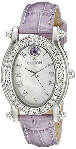 CROTON Women's CN207537LVMP Balliamo June Birthstone Analog Display Quartz Purple Watch Croton Womens Quartz Stone