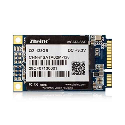 Zheino mSATA 128gb SSD with 128M Cache Q2 Internal mSATA Drive (2D MLC) Solid State Drive for Mini Pc Tablet Pc by Zheino