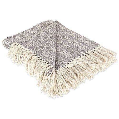 DII Rustic Farmhouse Cotton Diamond Patterned Blanket Throw