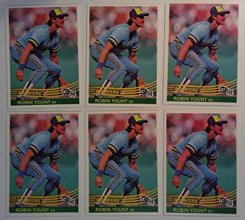 Donruss 1984 Robin Yount Brewers Shortstop Baseball Cards # 48 Lot of 6