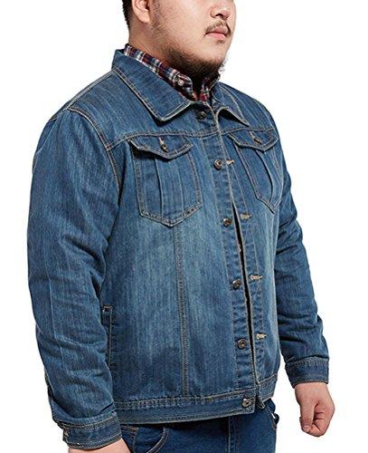Brinny Herren Übergröße Jeansjacke Classic Jacket Vintage Outerwear