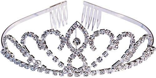 [Flower Style Headband Comb Charming Rhinestone Wedding Bridal Party Birthday Tiaras] (Hallowe En Costumes Ideas)