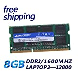 HAMISS for DDR3 PC12800 1.5V-RAM DDR3 1600Mhz 8GB (for All Motherboard) SO-DIMlM RAM DDR3 Notebook Memory
