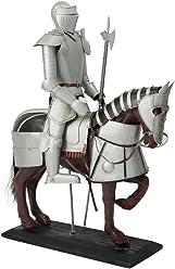 Dekoration Dekofigur Ritterrüstung Ritter mit Schwert 45 cm Ritterheim