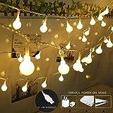 Pausseo Christmas USB Powered with 100 LED Globe Lights - Decoration Pendant Hotel Lobby Family House Party Decor Striking Warm Lamp Warm White Light Bulb Decorative Lantern