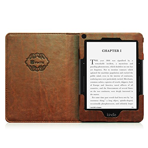 Old Book Cover Kindle ~ Fintie folio case for kindle voyage premium pu leather