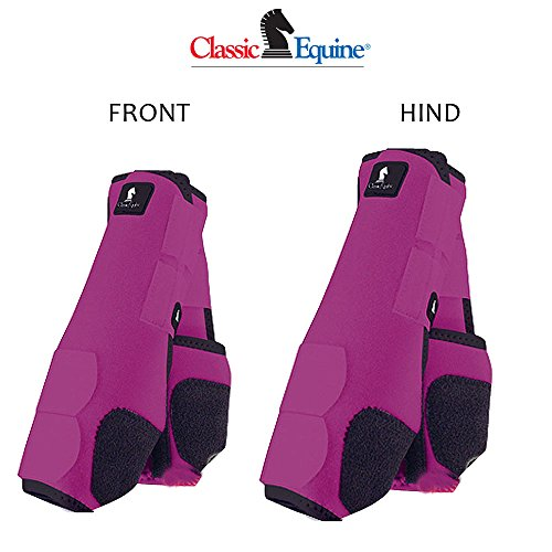 M- 4 PACK FUSHIA CLASSIC EQUINE LEGACY SYSTEM HORSE FRONT REAR HIND SPORT BOOT by Classic Equine