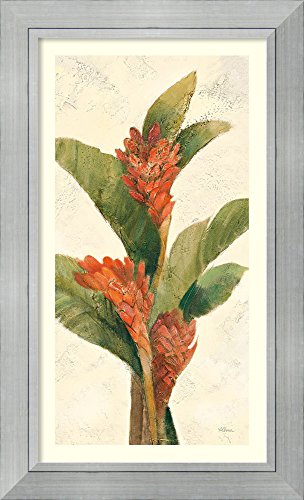 Framed Art Print 'Ginger Blossom on White' by Albena Hristova White Ginger Matted Print