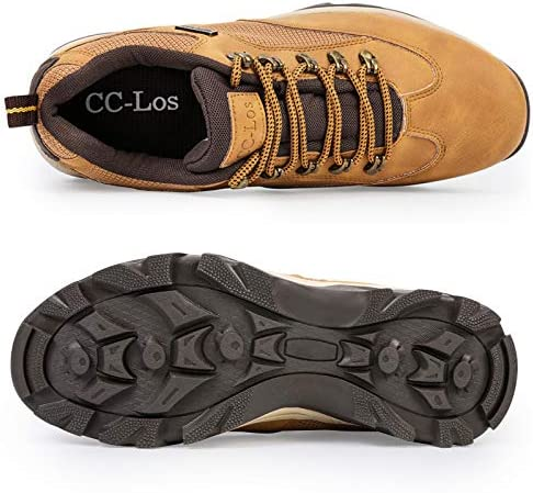 CC-Los Men's Hiking Boots Shoes Waterproof Mid Low Top Boot Shoe Shock-Absorbing EVA Casual Outdoor Lightweight