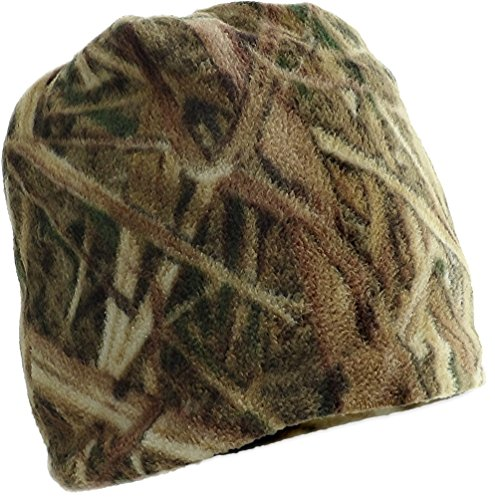 Mossy Oak Shadow Grass Blades Reversible Soft Fleece Beanie ()