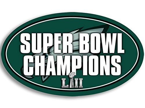 GHaynes Distributing Oval EAGLES SUPER BOWL LII Champions Sticker Decal (philidelphia champs Sticker Decal ic) 3 x 5 inch -