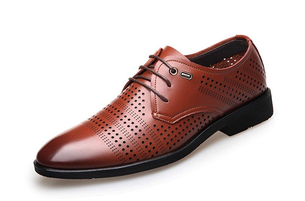 XIE Zapatos de verano para hombres Zapatos casuales Zapatos de vestir para negocios Zapatos de moda Agujero Zapatos 38-43, brown, 40 40|brown