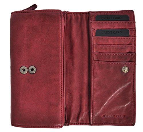Jockey Club Portamonete, rosso (Rosso) - 8860-20-10