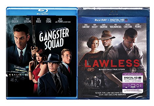 Lawless & Gangster Squad [Blu-ray] 2 Pack Mob Crime Movie Set