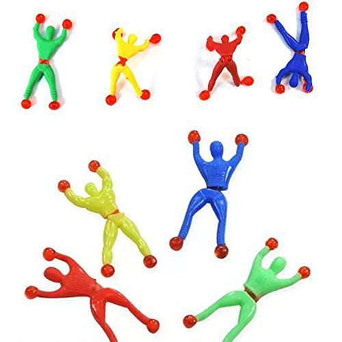Party Favors - 12 Pcs Novel Gift Sticky Wall Climbing Climber Men Kids Party Toys Fun Favors Pinata Fillers - Sand Rose Year Minnie Teens Dragon Travel Stamps Horse Ideas -