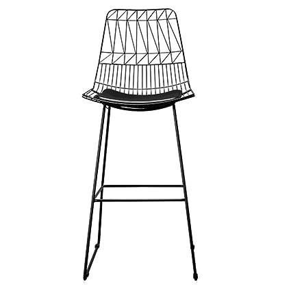 Stupendous Amazon Com Barstool Wrought Iron Bar Stool Wire Mesh Chair Theyellowbook Wood Chair Design Ideas Theyellowbookinfo