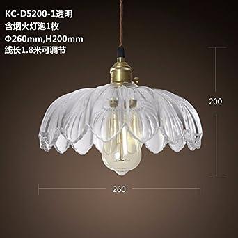 GQLB Fr Glas Jugendstil Kronleuchter Wohnzimmer Light Bar Transparente Lampen