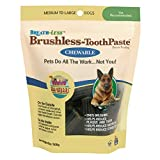 Ark Naturals Breath-less Brushless Toothpaste, Dental Chews for Medium to Large Dogs, Plaque, Tartar, and Bacteria Control, Chewable, Easy Digestion, Mess Free, Natural Ingredients, 18 oz. Bag