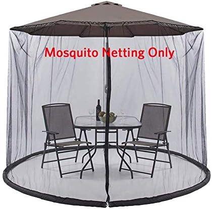 パラソル用蚊帳、パラソル蚊帳ガーデン傘テーブル画面、ジッパードア付きパラソル蚊帳カバー、屋外パティオキャンプ傘に適したポリエステルメッシュネット
