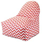 Majestic Home Goods Coral Chevron Kick-It Chair