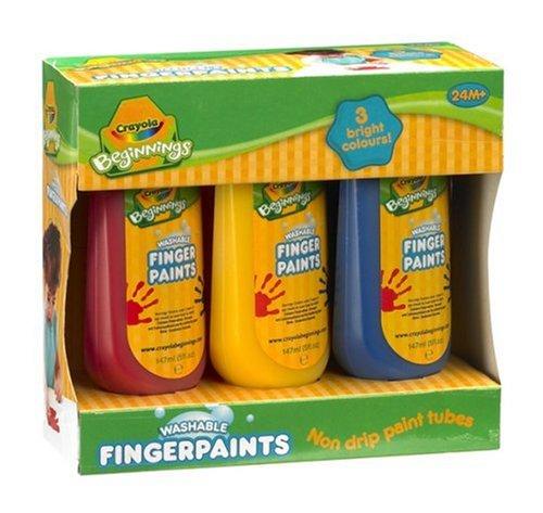 Crayola - Loisir Créatif - 3 Flacons De Peinture Au Doigt Mini Kids 3.3238