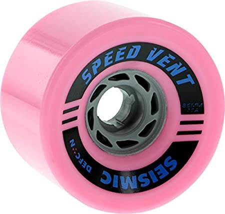 Seismic Speed Vent Longboard Wheels for Cruising, Downhill, Electric Skateboard Colors