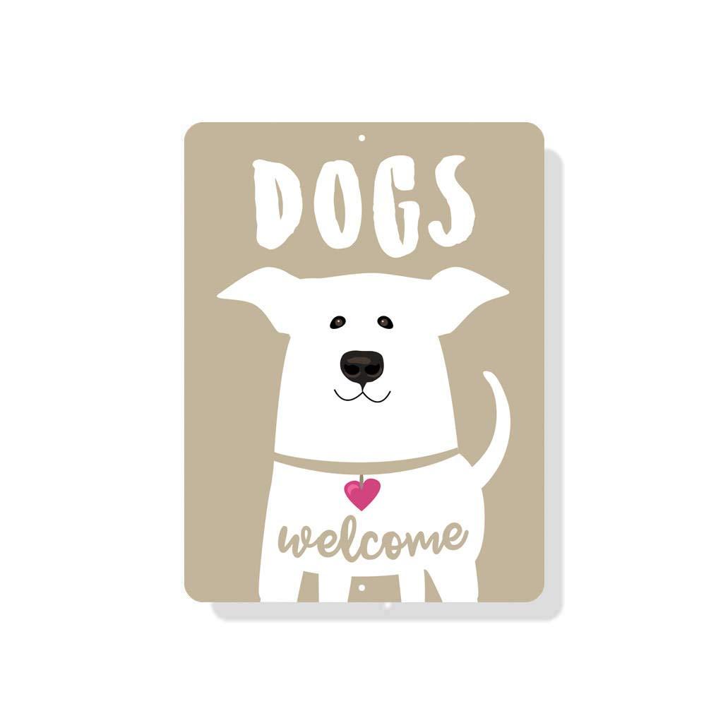 Dozili Cartel de Bienvenida de Perros - 8 x 12 Pulgadas ...