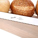 Ultra Sharp 8 Inch Serrated Bread Knife. Cuts with Precision from Crusty Loaves to Soft Bread and Pastry. 10 ULTRA SHARP - Ultra-sharp stainless steel serrated edge for cutting faster with less friction. Superior stainless steel 430 5CR15 with 0.5% Carbon for durability & hardness and 15% Chromium for stainless quality. ONCE PIECE - One-piece design with no other parts that can move or dismantle making it safe and hygienic. LFGB APPROVED - this knife proudly meets the legal safety standards from the German Food Society and UE market.