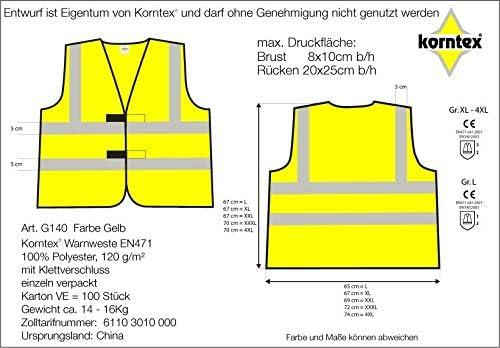 Warnweste Set Halte Abstand Sicherheitsweste Signal Weste Auto Joggen Laufweste Erwachsene Reflektor Orange Mit Klettverschluss Xxl 10 Stück Baumarkt