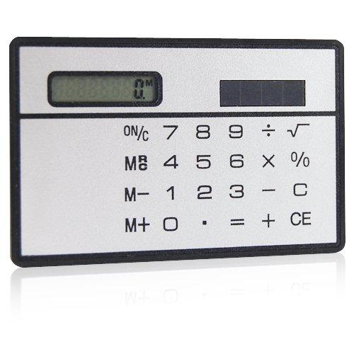 Veroda Mini Powered Credit Card Size Compact Solar Calculator Photo #6