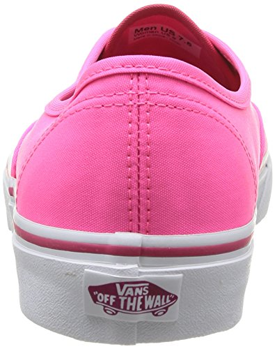 65be513db6015 Vans Unisex Authentic (Pop) Neon Pink Skate Shoe 5.5 Men US / 7 ...