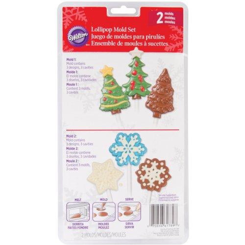 Lollipop Mold 2/Pkg-Snowflake/Tree