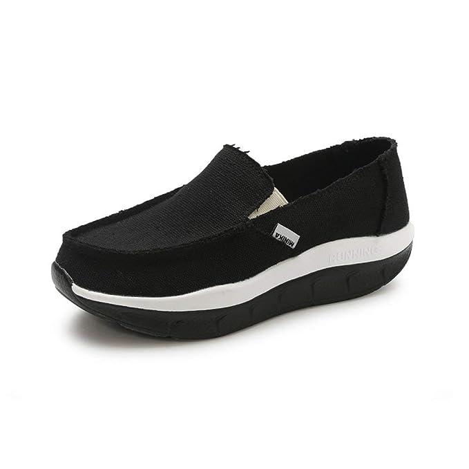 FHTD Zapatos De Mujer Lienzo Primavera Otoño Mocasines Y Zapatillas Sin Cordones Zapatillas Deportivas Zapatillas: Amazon.es: Ropa y accesorios