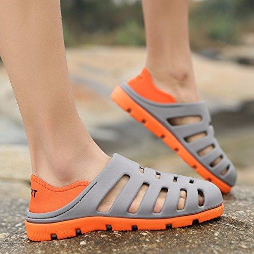 Il nuovo estate Spiaggia scarpa Uomini traspirante Cavo Ultraleggero Uomini sandali Buco scarpa ,grigio,US=6,UK=5.5,EU=38 2/3,CN=38
