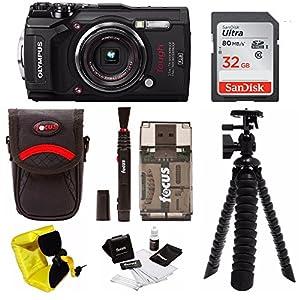 Olympus TG-5 Waterproof Digital Camera w/ 32GB SD Card & Accessory Bundle